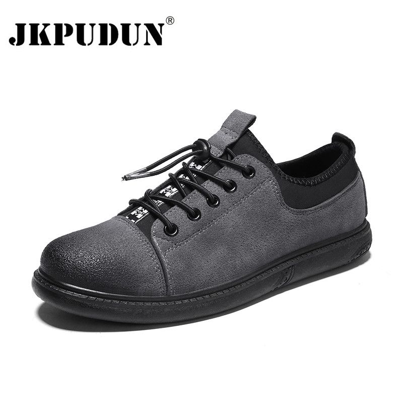 aa2e0cc9954 JKPUDUN Hip Hop Mens Shoes Casual Trainers Luxury Brand 2018 Suede Leather  Retro Shoes Men High Quality Fashion Classic Sneakers-in Men s Casual Shoes  from ...
