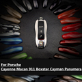 13 Colors FOB Remote Key Case Cover Replacement fit Porsche Cayenne Macan 911 boxster cayman for Panamera