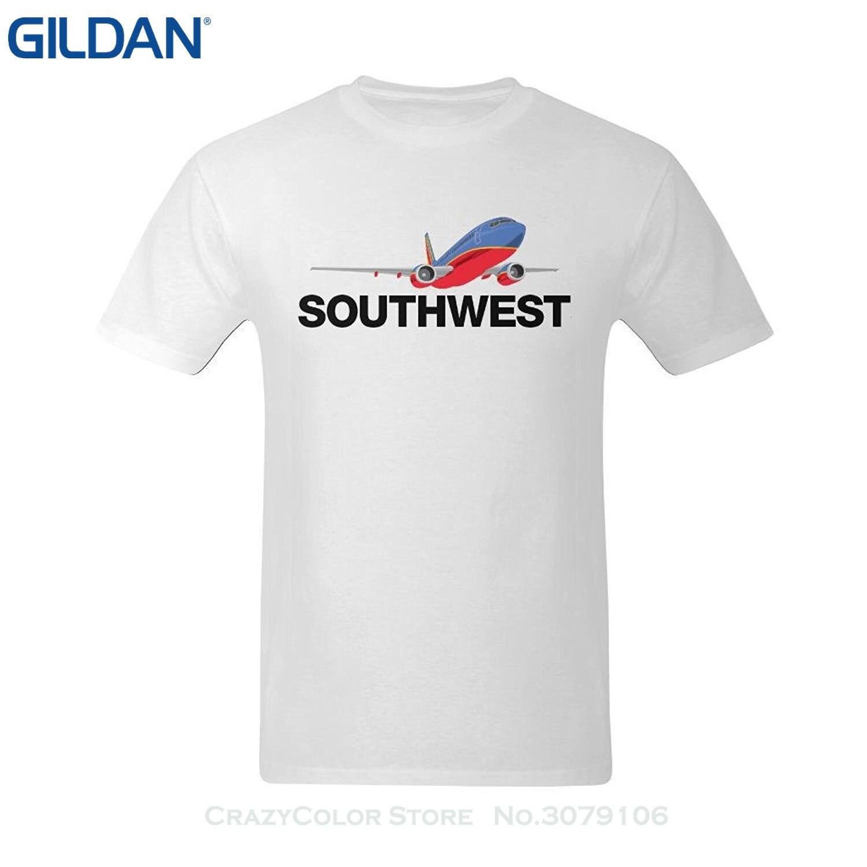 Возьмите Лето 2017 короткий рукав плюс Размеры Для мужчин Southwest Airlines логотип модного Футболки Для Девочек Средний ...