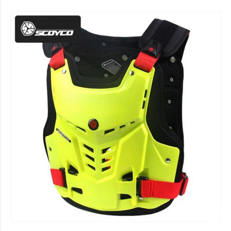 2019 nouveau SCOYCO tout-terrain moto cavalier armure poitrine protecteur arrière équitation anti-chute équipement de protection armure gilet de PP shell