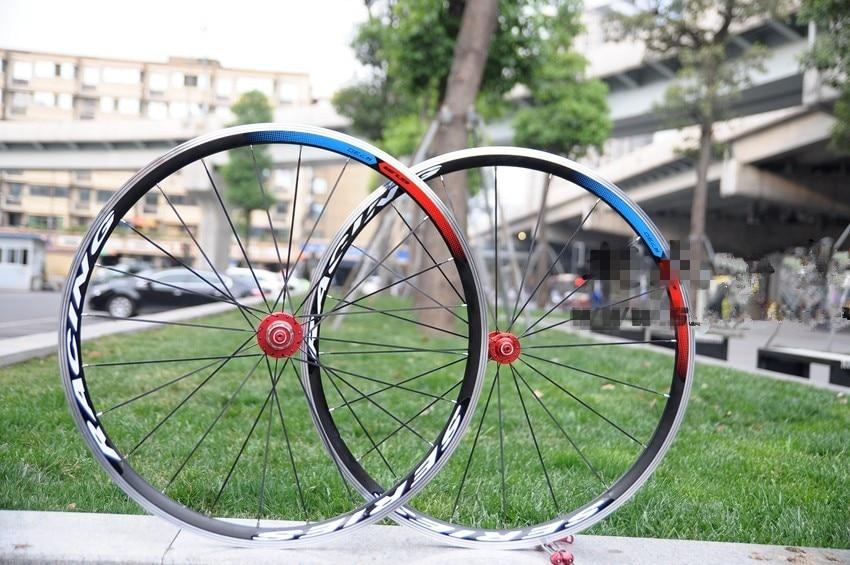 GUB Bike light weight Clincher Bicycle aluminum Alloy Wheels GUB Hub Pillar spokes R730 Hub 700C Road Alloy Bike Wheels d09 aluminum alloy bicycle cnc front fork washer blue white 28 6mm