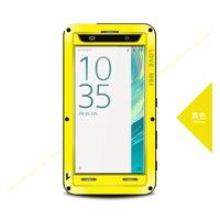 Back Cover Case For Sony Xperia XA Love Mei Original Aluminum Glass Screen Shock Drop Waterproof