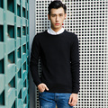 2017 Autumn Winter Men Sweaters and Pullovers Split Long Sleeve Casual christmas Sweater Knitted Cotton Male Sweater  XN035