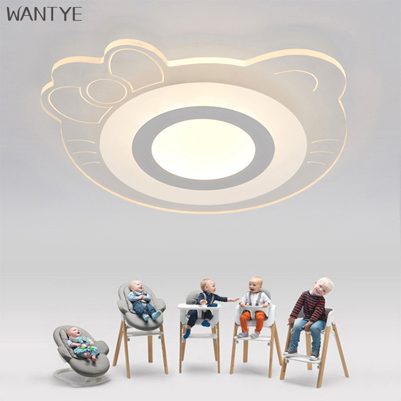 Creative Cartoon Ceiling Light Modern Acrylic LED Ceiling Lights Lamp Luminaria Dimmable for Kids room Bedroom free shipping creative cartoon ceiling lamp smd led electrodeless dimmable air plane shape light study children boy girl room bedroom