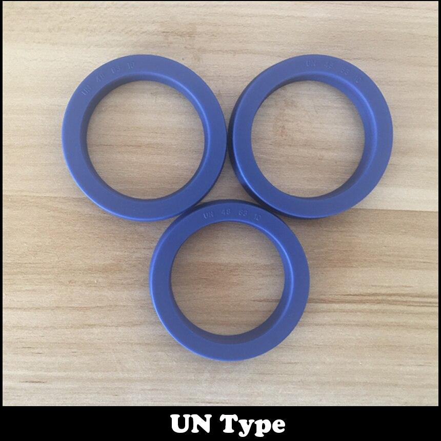 UN 48*63*10 48x63x10 48.3*58*10 48.3x58x10 Blue U Cup Lip Pneumatic Piston Hydraulic Rotary Shaft Rod Ring Gasket Wiper Oil Seal lifan 620 wiper with rod wiper rod