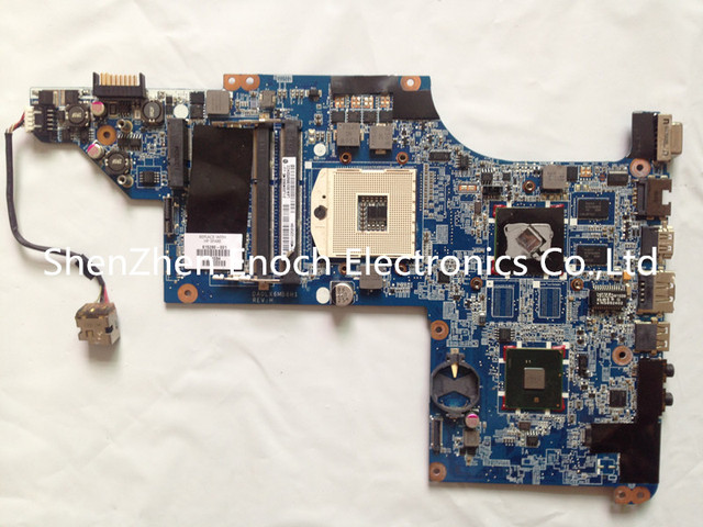 Para hp dv6 dv6-3000 laptop motherboard 615280-001 ddr3, con chip gráfico ati 100% probado completamente 630280-001 60 días de garantía