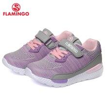 QWEST брендовые кожаные стельки дышащий арки детская спортивная обувь Hook & Loop Размеры 24-30 Детские Кроссовки для девочки 91K-JL-1215