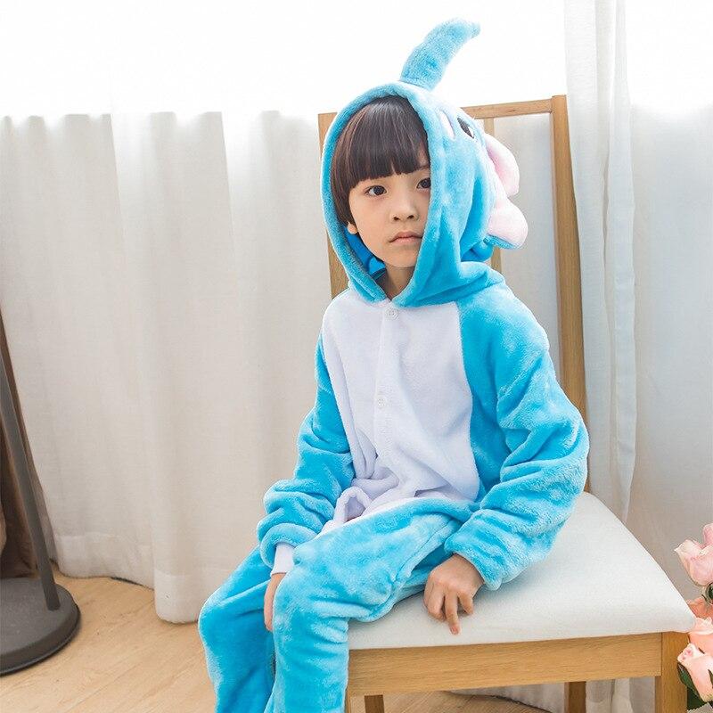 Mioigee 2017 детей мультфильм милые теплые пижамы для девочек Одежда для маленьких мальчиков часть дома пижамы Мода Кигуруми для детей 2-10 лет