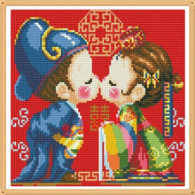 Koreanische Hochzeit 40×40 cm Hand Diamant Stickerei Malerei Wohnkultur Diamant Mosaik Muster Voll Platz Diamant Malerei