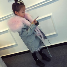 Girl Coat New Winter Boy Jacket Detachable Fur Liner Children Clothes Parka Thick Warm Clothing Girls Outerwear