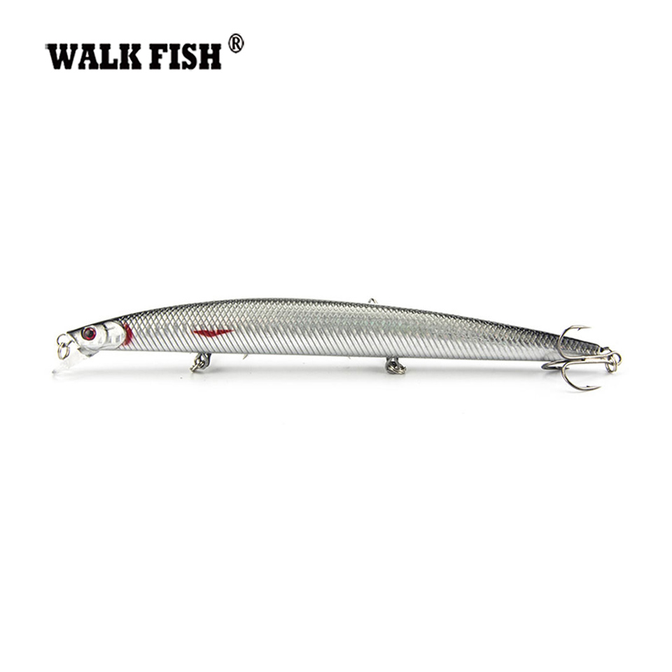 Walk Fish 1Pcs 18cm 26g Brand Lifelike Minnow Fishing Lure Plastic Hard Bait Pesca Fishing Tackle Isca Artificial Bait Crankbait 1ps minnow fishing lures deep isca artificial wobbler crankbait for fish lure hard fake bait pesca tackle hooks sea 14 5cm 12 7g