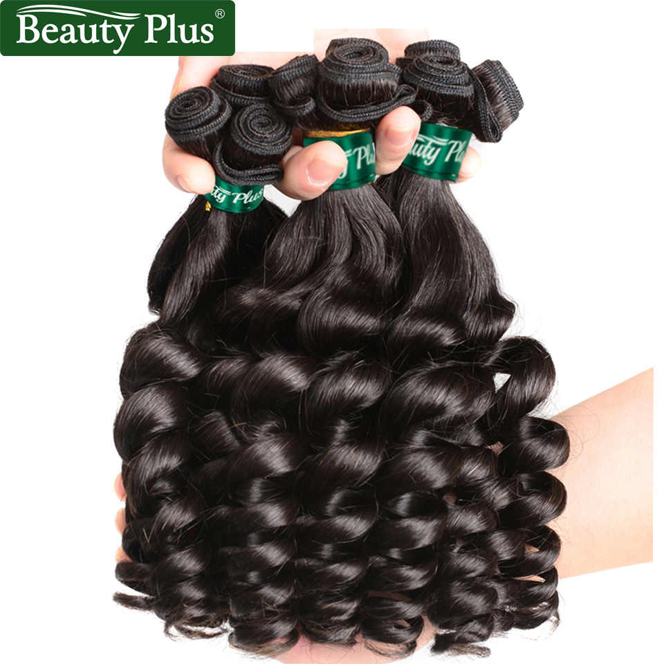 Funmi Curly Peruvian Human Hair Weave Bundles Can Be Restyled Beauty Plus Africa Romantic Curl Nonremy Black Color Hair Bundles