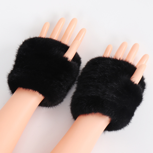 Knitted Natural Fur Gloves...