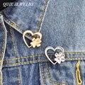 QIHE ювелирные изделия рисунок питомца с надписью love pins Броши Булавки на лацкан значки сумка шляпа аксессуары собачья лапа кошка лапа питомец...