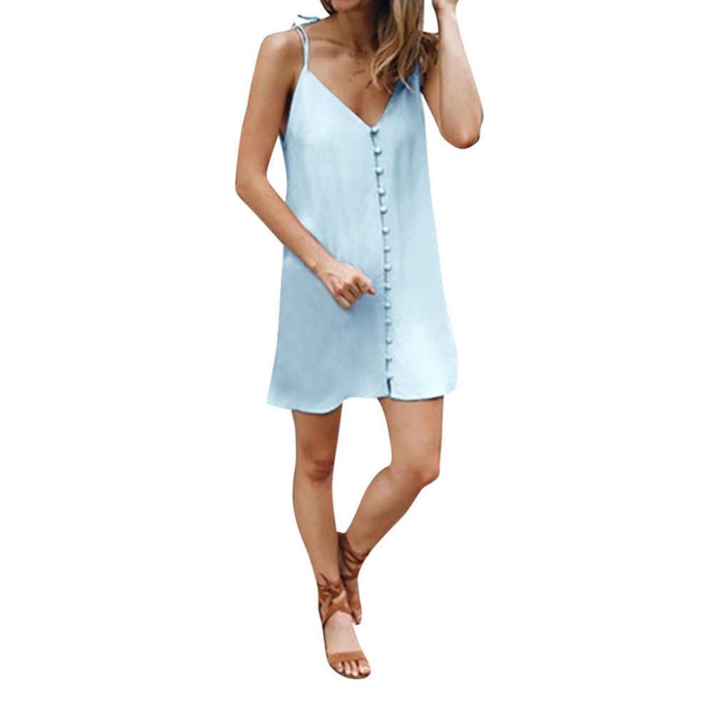 夏のファッションの女性のカジュアルドレスファッションセクシーな猫動物プリントスリムベストストラップローブファム夏ドレス 2019 ミニドレス