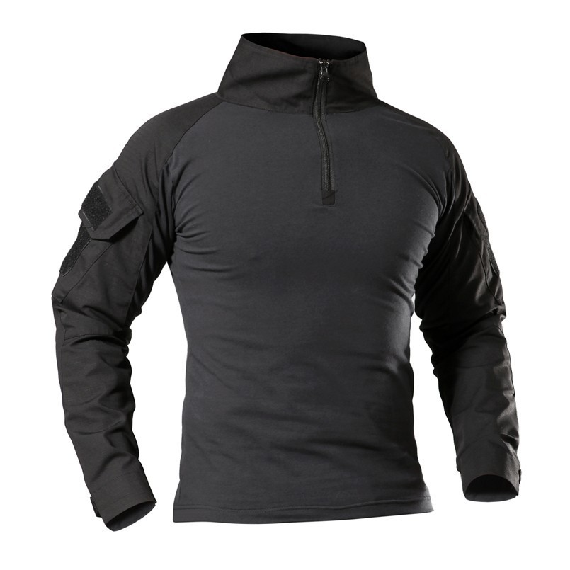 T-Shirts Sport-Clothes Pro-Wear Long-Sleeve Army Military Tactical Outdoor Hiking Camouflage
