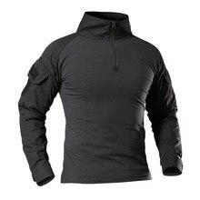 Мужская Уличная Тактическая Военная походная футболка, армейская камуфляжная спортивная футболка с длинным рукавом, дышащая спортивная одежда, профессиональная одежда