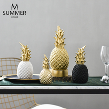 creative resin Golden pineapple statue home decor crafts room decoration objects ornament Simulation figurine gifts