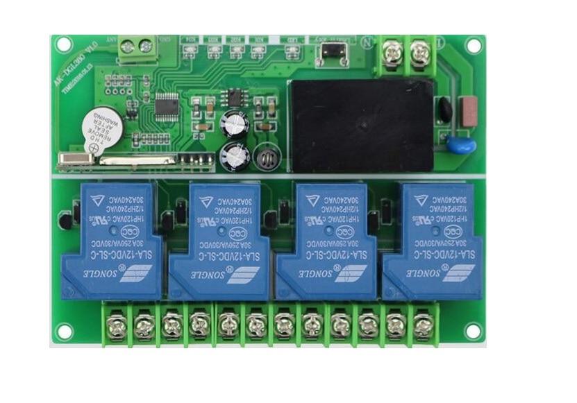 220 V 380 V 4CH 30A RF Беспроводная система дистанционного управления teleswitch 10 шт передатчик и приемник Универсальный пульт дистанционного управления - 4