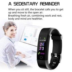 Image 4 - Bracelet intelligent montre Fitness moniteur de pression artérielle de fréquence cardiaque, podomètre pour garçons et filles, Bracelet intelligent pour Android iOS