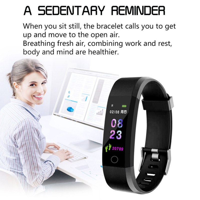 Image 4 - Smart Wristband Fitness Watch Heart Rate Blood Pressure Monitor, Pedometer for Boys and Girls, Smart Bracelet for Android iOS-in Smart Wristbands from Consumer Electronics