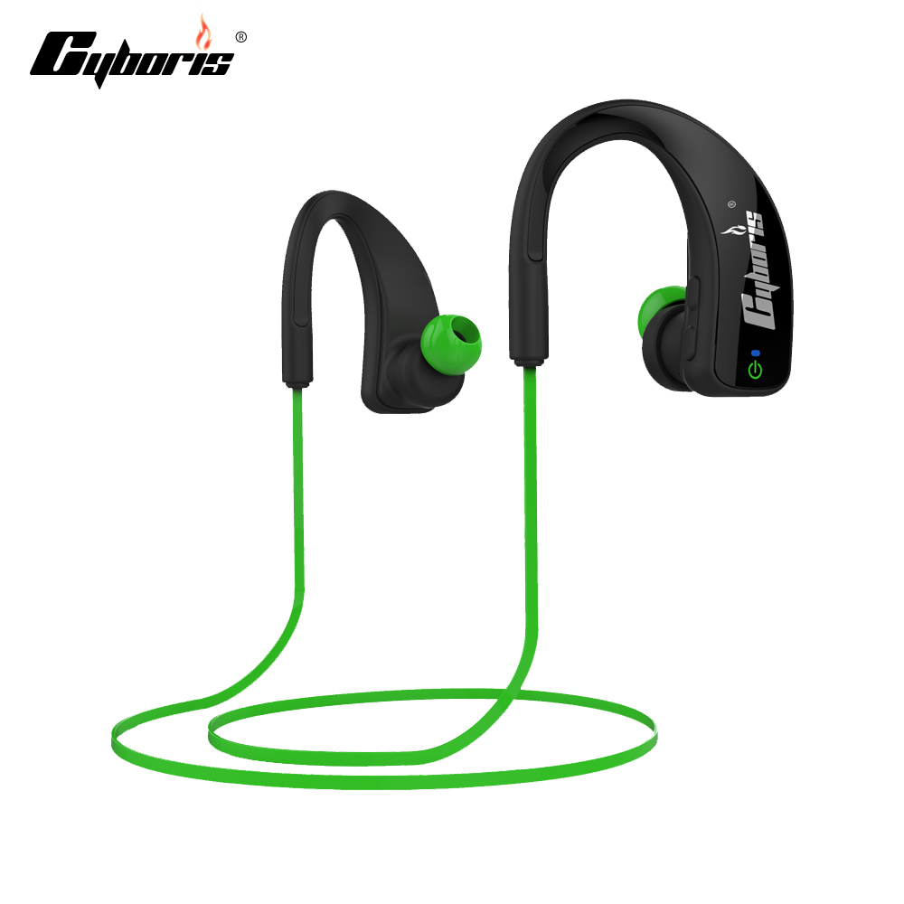 CYBORIS Bluetooth Earphone Wireless Sports Headphones In ear Headset Running Stereo Earbuds Handsfree with Mic for Smartphones wireless bluetooth headset running earphone ear hook with mic earbuds for apple meizu xiaomi mobile pc lg sports headphones