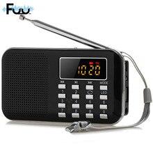 L-218 стерео Портативный Радио fm Динамик приемник басов MP3-плеер пожилых мини Радио fm Портативный SD/TF фонарик