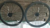 1pair Newest lightest 700C 50mm Road racing bike twill 3K full carbon fibre tubular rims bicycle wheelsets 23mm width Free ship