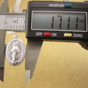 Image 3 - 100pcs of Aluminum Religious Miraculous Medal Pendant