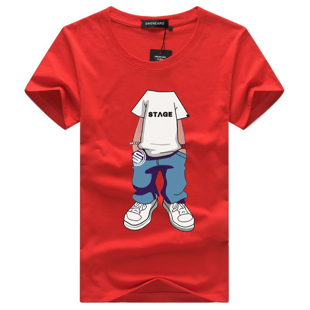 f04caf89a6ab 2018 men's T shirt Hide the boy's head S-5XL Casual short sleeve o-neck  letter printed cotton t shirt men brand tee T-shirt