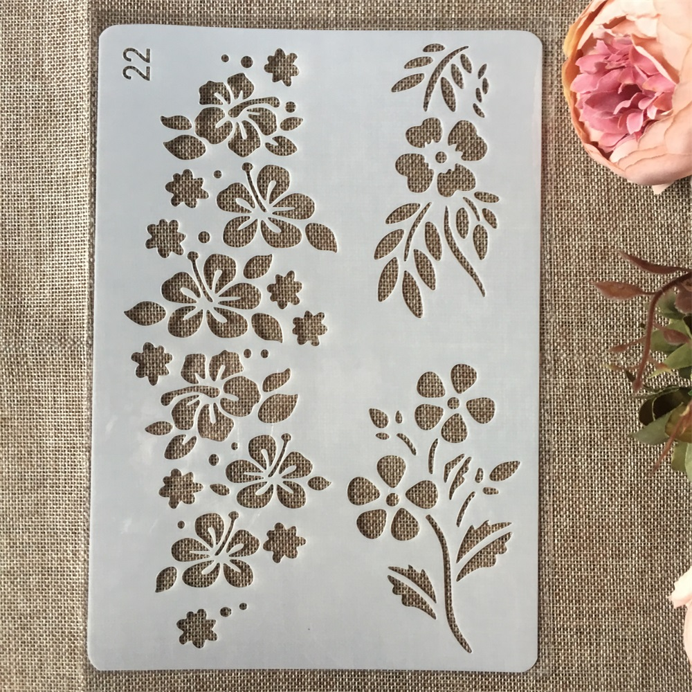 New 26cm Plum Leaves DIY Craft Layering Stencils Painting Scrapbooking Stamping Embossing Album Paper Card Template