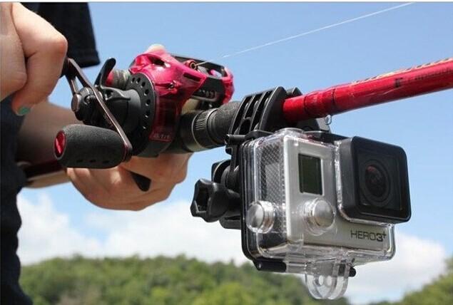 For Gopro Gun/Fishing Rod/Bow /Arrow Fixed Clip Holder Mount For Gopro Hero 4 Hero3+ 3 2