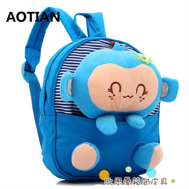 AOTIAN Canvas Cartoon School Bag for Childrens kid School Backpack for Kindergarten  Baby Mochila Infant School Bags Boy Backpack a7fd163783282