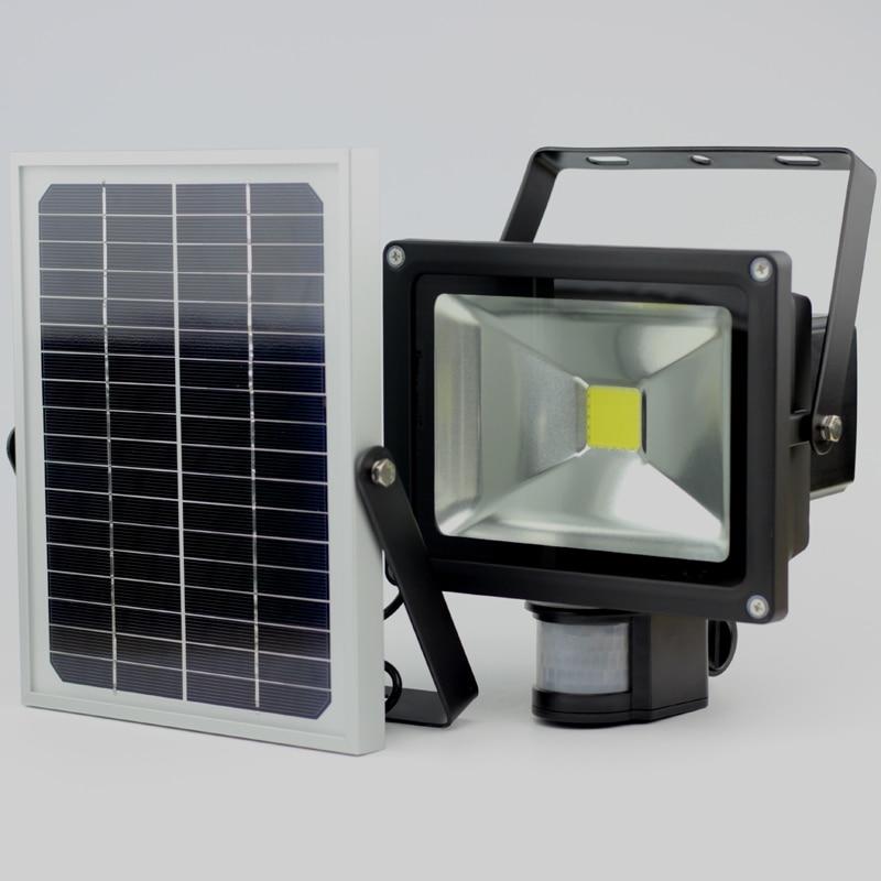 2019Περισσότερες πωλήσεις 20W Solar Garden Light με ανίχνευση κίνησης Αισθητήρας LED πλημμύρας φως IP65 CE ROHS Εγκρίθηκε