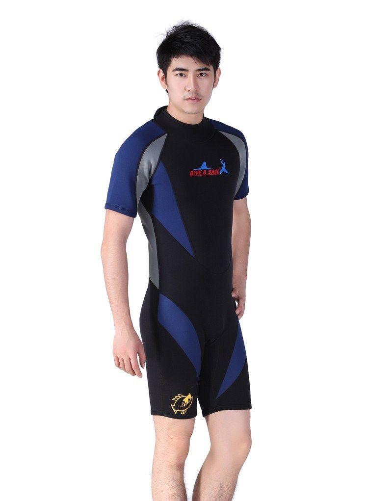 1.5mm Men's Neoprene Snorkeling Shorts Wet Suit Scuba Diving Jump Suit Free Shipping