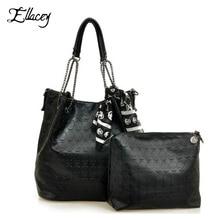 2018 Vintage Designs Skull Bag Pu Leather With Silk Scarf Shoulder Female Bags Women Black Skull
