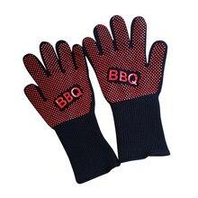 Термостойкие толстые приготовления выпечки барбекю печь перчатки барбекю гриль перчатки FPing