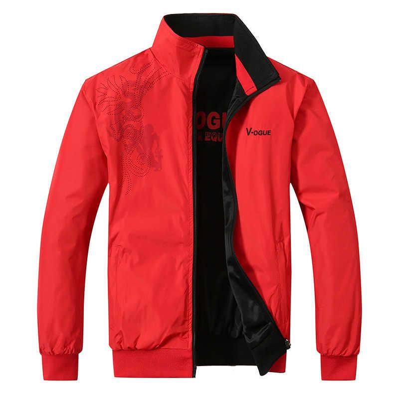 TIEPUS весна и осень новая куртка мужская повседневная модная Двусторонняя куртка с принтом Мужская спортивная верхняя одежда размер L ~ 4XL, 5XL