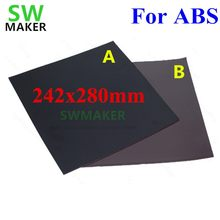 New For ABS Magnetic Print Bed Tape square 280x242mm Print Sticker Build Plate Tape Flex Plate for Flyingbear P905X 3D Printer(China)