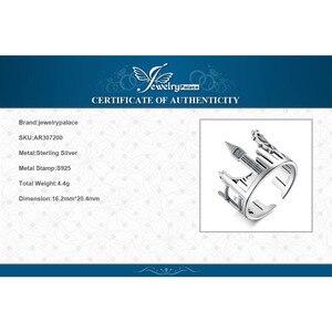 Image 5 - Bijoux palace tours jumelles anneaux 925 en argent Sterling anneaux pour femmes ouvert empilable anneau bande argent 925 bijoux Fine bijoux