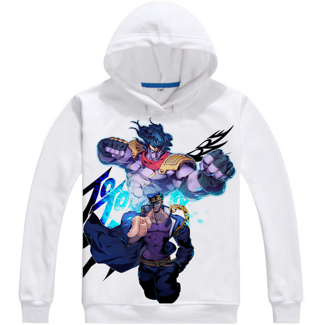 Kujo Jotaro Star Platinum Mens Hoodies JoJo's Bizarre Adventure Men Sweatshirt Streetwear Anime Hoodie Printed Long Hooded 4