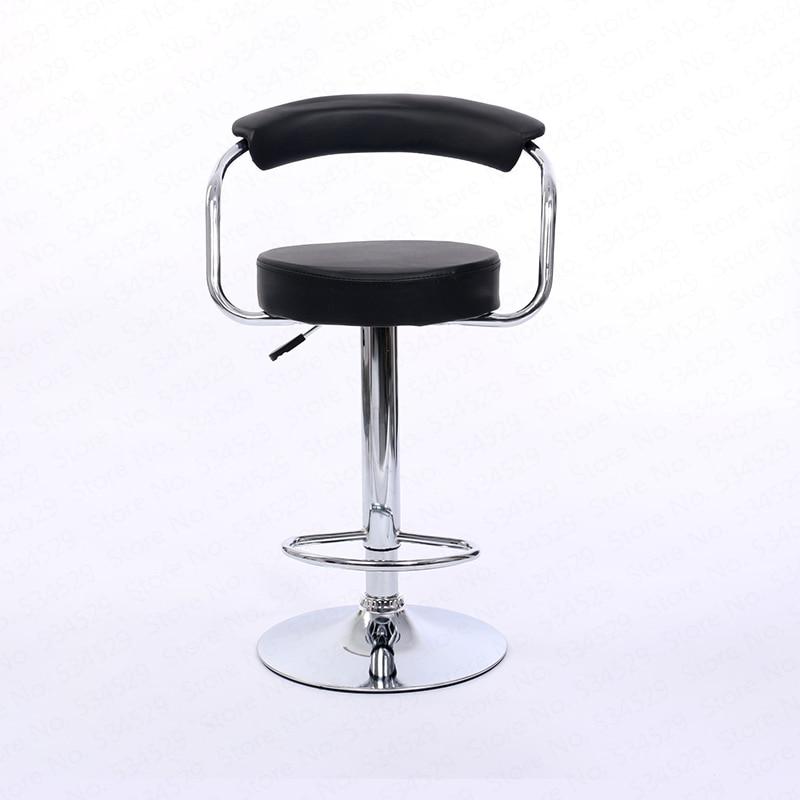 B Bar Chair Lift Chair Modern Minimalist Back Bar Chair Home Bar Stool Rotating Front Desk High Foot Cashier Stool