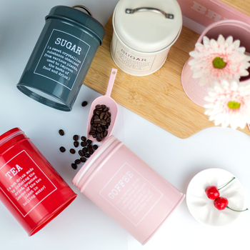 Metal Colorful Seal Storage Jar Classical Minimalist Nordic Desktop Storage Bottle Home Organizer Coffee Sugar Tea Container 4