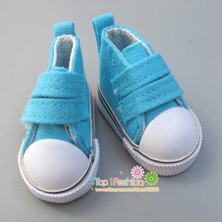 شحن مجاني 1 زوج 5 سنتيمتر قماش أحذية أحذية لل bjd دمية الأزياء البسيطة لعبة الأحذية دمية bjd دمية الأحذية ل الروسية اكسسوارات