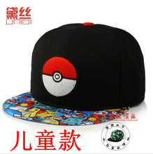 Pokemon Go Pikachu Ball Baseball Hat Boys Girls Kids Snapback Hip-Hop Cap SEL