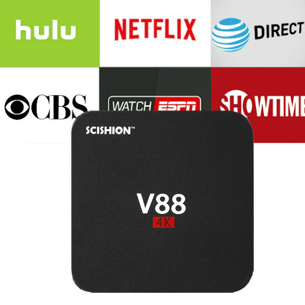 1 Year Netflix Account with Android V88 TV BOX 1G/8G Android 7.1 tv box set top box media player