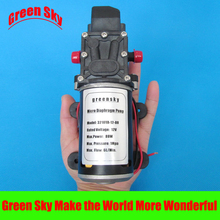 цена на 6L/Min. DC 80W diaphragm pump automatic pressure switch 12 volt high pressure water pump
