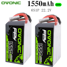 2PCS Ovonic 1550mAh 22.2V 100C 6S1P LiPo Battery Pack with XT60Plug for Tiny Quad RC Airplane Small