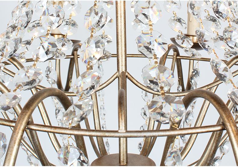 Kristal Çilçıraq Müasir Vintage Kristal Çilçıraqlar İşıq - Daxili işıqlandırma - Fotoqrafiya 5