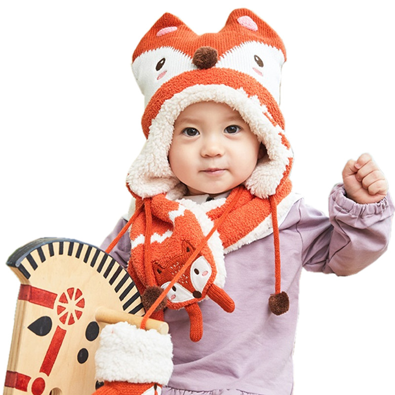 Intellective 2pcs/set Winter Baby Hat Scarf Knitted Baby Cap Neck Warmmers Kids Beanies Hats Scarf Gloves For Girl Boy Accessories Boys' Clothing